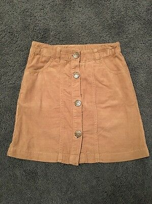 Next Girls Brown Cord Skirt - Age 8 Years