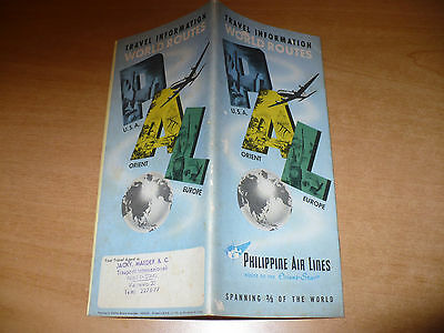Aviazione Brochure Travel Information World Routes Philippine Air Lines 1951 Pal