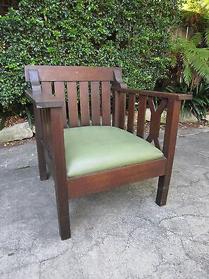 Arts and Crafts Oak Morris Chair c.1910