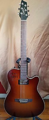 Godin A6 Ultra Cognac Burst HG ACOUSTIC-ELECTRIC with Bag - LIKE NEW