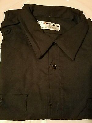 WORK SHIRT Uniform by Aramark- ' Men's XL navy short sleeve button-down four ava