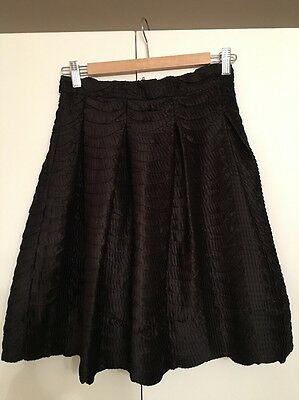 H&M Black Textured Skirt