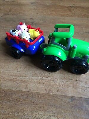 Carousel Tractor, 4 Farm Animals - Educational Toy Animal Sounds and Music