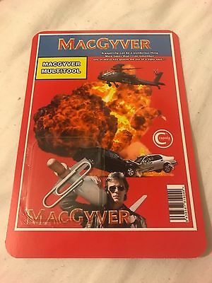 MacGyver Multitool Promo Card Back Novelty (Contains 1x Paperclip) Promo Replica