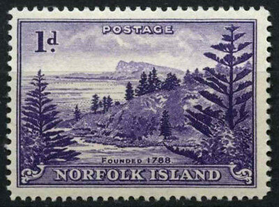 Norfolk Island 1947-1959 SG#2a, 1d Bright Violet, White Paper MH #D44969