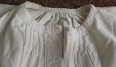 Vintage French Linen Nightdress - Embroidered Initials  L L