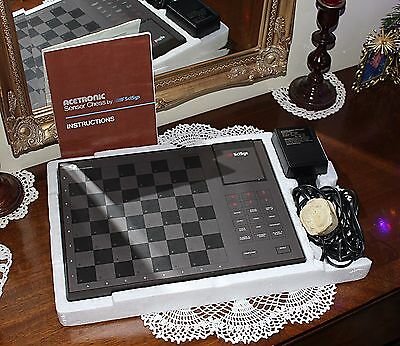 Vintage Sensor Chess Acetronic Programmed by Julio Kaplan Working '80s