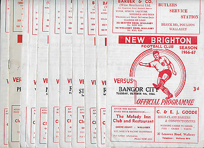 12 x NEW BRIGHTON programmes: 1964-1968: ex-Football League club