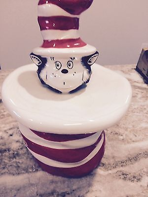 Vintage Dr Seuss Cat in the Hat Ceramic Cookie Jar Rare Cute!