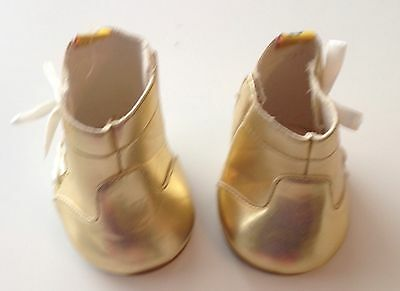 Build A Bear Shoes - Shiny Gold Boots