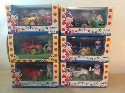 Corgi Noddy In Toyland Set Of 6 Die Cast Models New And Boxed ☆Collectable☆