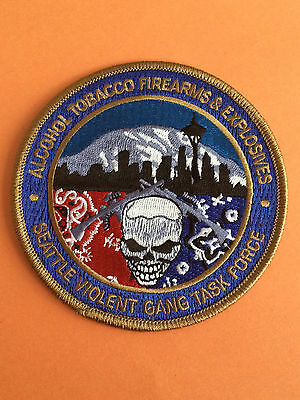 ATF Alcohol,Tobacco,Firearms And Explosives Violent Gang Task Force Patch.