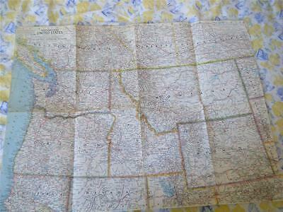 Vintage National Geographic Map - The northwestern  United States - April  1960