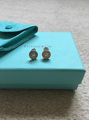 Tiffany & Co Silver 1837 Stud Earrings (never worn) with Box