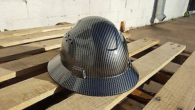 Hydrographic Full Brim Hard Hat Added Air Vents Carbon Fiber Look