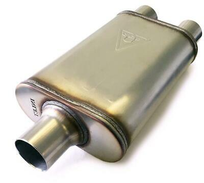 """Two chamber performance street muffler 3"""" inlet 2.5"""" Dual outlet"""