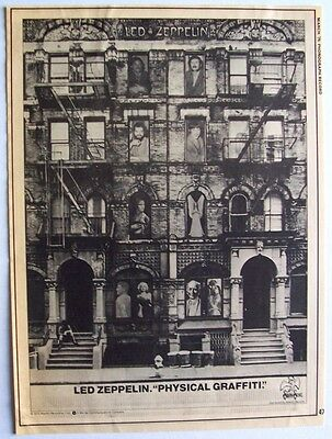 LED ZEPPELIN 1975 Poster Ad PHYSICAL GRAFFITI swan song