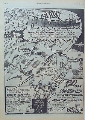 FUNKADELIC 1978 Poster Ad ONE NATION UNDER A GROOVE