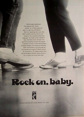 STAX RECORDS 1972 Poster Ad ROCK ON BABY