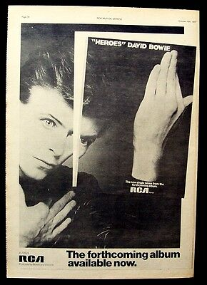 DAVID BOWIE 1977 Poster Ad HEROES