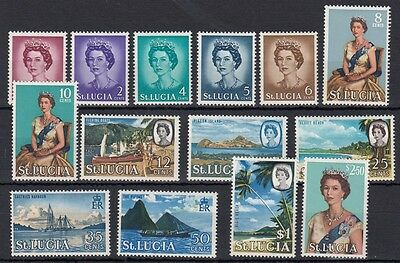 St Lucia 1964 MH set complete - SG197-210