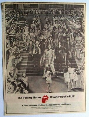 THE ROLLING STONES 1974 Poster Ad IT'S ONLY ROCK 'N ROLL