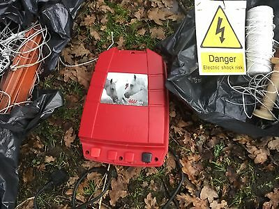Quality Olli 300 Energiser And Electric Fence Setup. Chicken Horse Fox