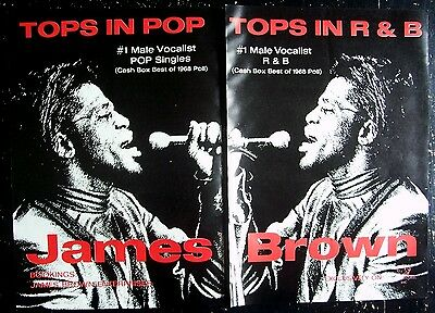 JAMES BROWN 1968 Poster Ad TOPS IN POP TOPS IN R&B poll awards