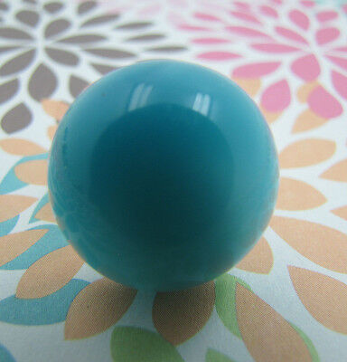 Custom Repurposed Vintage Turquoise Lucite Dome Moonglow Mod Cocktail Ring