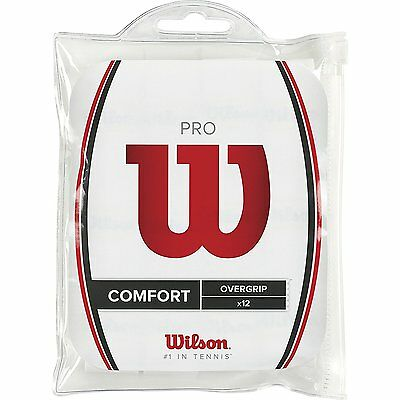 Wilson Pro Over Grip 12 Pack White Quality Long Lasting Maximum Comfort Sports