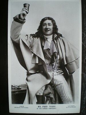Postcard - Rp Actor Fred Terry In The Scarlet Pimpinnel