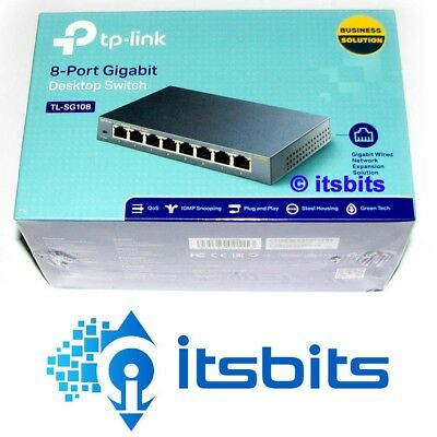 Tp-Link Tl-Sg108 Gigabit 8 Port Desktop Ethernet Switch 10/100/1000 Metal Case