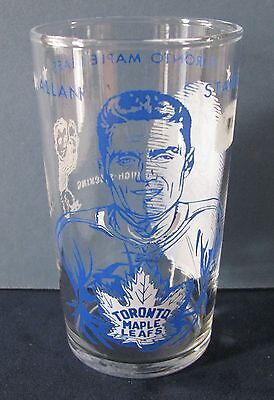 Allan Stanley 1960-61 York Peanut Butter Hockey Glass / Toronto Maple Leafs