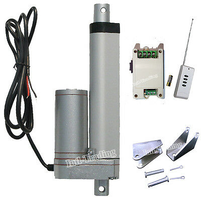 """100mm 4"""" Stroke Linear Actuator 330lbs DC12V Motor &Wireless Control System Kits"""