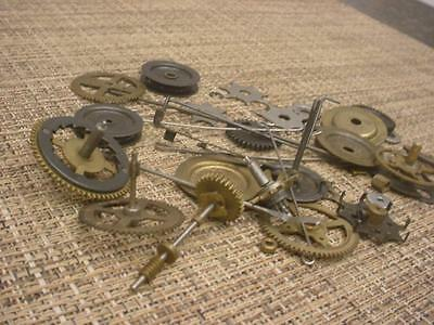 Lot of Vintage German Black Forest Cuckoo Clock Parts Clutch Wheels   E971d