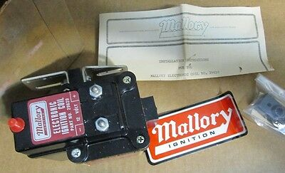 NOS Early Mallory Voltmaster Mark II 12 volt coil #29620 MINT and complete