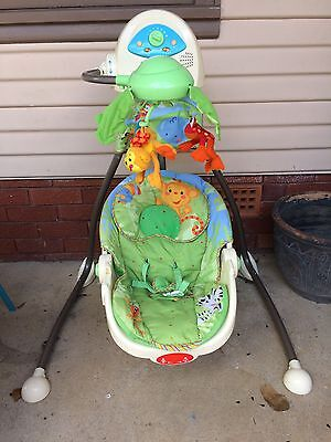 Fisher Price Rainforest Swing with Instructions and bonus Head Cushion