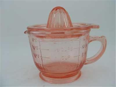 Pink Glass 2 Cup Juicer- Reamer