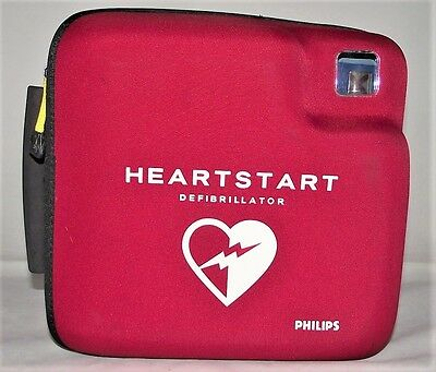 Philips Fr2+ Heartstart Aed Defib, New 09/2018 Pads + Battery & Data Card M3860A