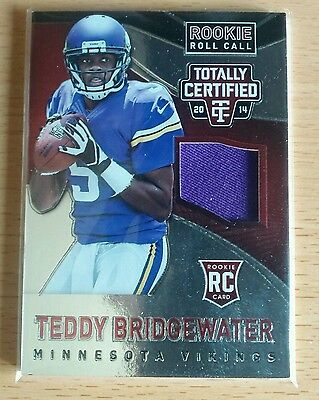 Teddy Bridgewater Totally Certifed NFL 2014 Rookie Roll Call Red #59/100 Patch
