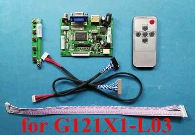 HDMI VGA 2AV Board for 12.1inch 1024x768 LCD Display G121X1-L03 G121X1-L04