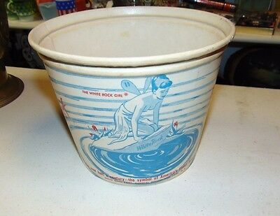White Rock Ginger Ale Cardboard Ice Bucket Great Graphics