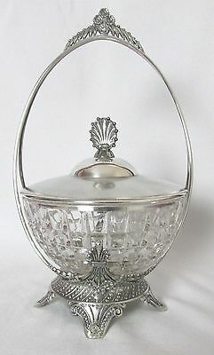 1800'S Tufts Silver Plated Master Sugar / Tea Caddy Museum Quality
