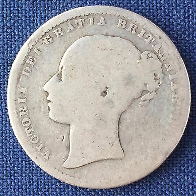UK / Great Britain 1 Shilling Bob 1868, Victoria - Die Number 25, Silver
