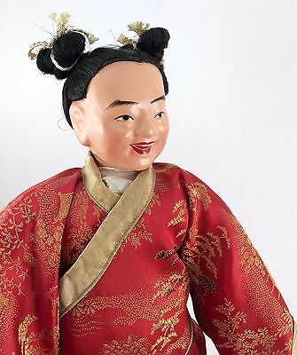 """Excellent Large (12"""" ) Vintage Chinese Character Doll Hand Made in Hong Kong"""