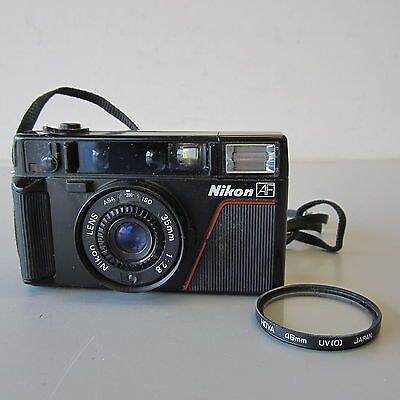 Vintage Nikon L35 AF 35mm Film Camera w/Filter