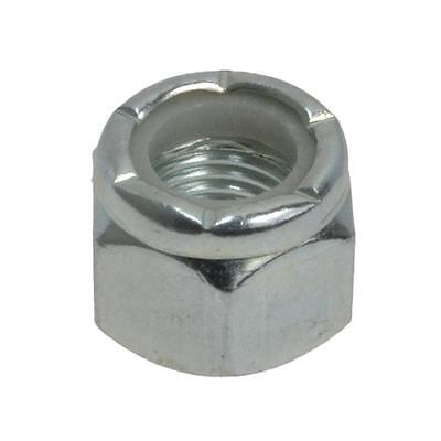"Hex Nyloc Nut 7/16"" UNF Imperial Fine Insert Steel Grade 5 Zinc Plated"