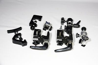 Lot of (8) misc.Used Studio accessories : (2)-Bogen Super Clamps & more. Vg-Fair