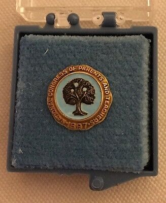 Vintage 10K Gold 1897 National Congress Of Parents And Teachers  Tree Pin PTA