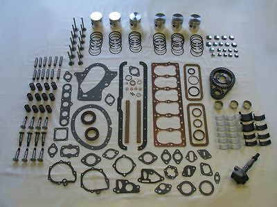 Deluxe Engine Rebuild Kit 1942-1948 Plymouth 218 pistons lifters valves